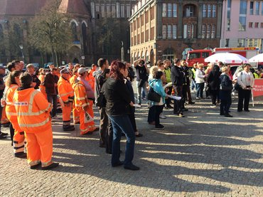 Tarifrunde ÖD 2018: Warnstreiks am 12.04.2018 in Frankfurt (Oder)