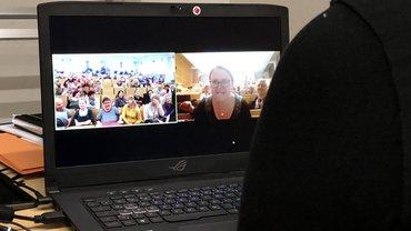 Die Teamdelegierten von Jena und Mainz per Video vereint