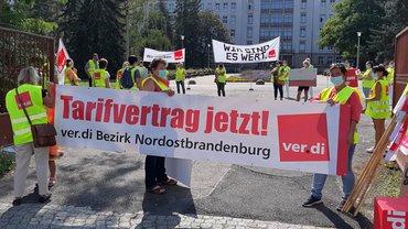 Warnstreik im Krankenhaus Eisenhüttenstadt